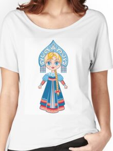Doll in a national Russian suit Women's Relaxed Fit T-Shirt