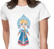 Doll in a national Russian suit Womens Fitted T-Shirt