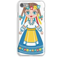 Doll in a national Ukrainian suit iPhone Case/Skin