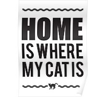 Home is where my cat is Poster