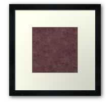 Deep Mahogany Oil Pastel Color Accent Framed Print