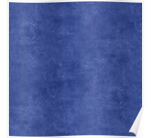 Deep Ultramarine Oil Pastel Color Accent Poster