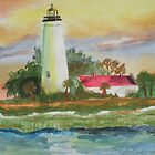 St Marks Lighthouse 2 by Warren  Thompson