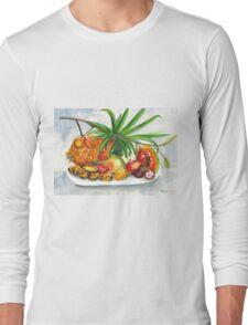 Tropical Fruit Long Sleeve T-Shirt