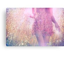 she chose a pink dress Canvas Print