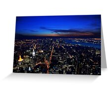 Sunset over Manhatten Greeting Card