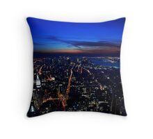 Sunset over Manhatten Throw Pillow