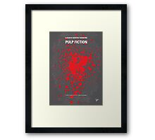 No067 My Pulp Fiction minimal movie poster Framed Print