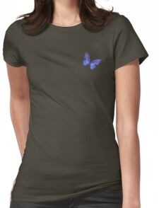 Blue Butterfly. Womens Fitted T-Shirt