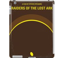 No068 My Raiders of the Lost Ark minimal movie poster iPad Case/Skin