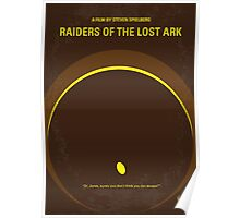 No068 My Raiders of the Lost Ark minimal movie poster Poster