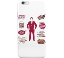 Anchorman Quotes - Funny T-Shirt - Movies - Films - Ron Burgundy iPhone Case/Skin