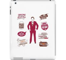 Anchorman Quotes - Funny T-Shirt - Movies - Films - Ron Burgundy iPad Case/Skin