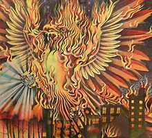 Phoenix rising by JacquelynsArt