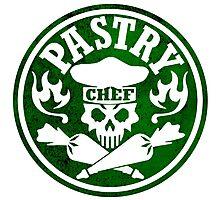 Pastry Chef Skull Logo Green Photographic Print