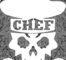 Pastry Chef Skull Logo Gray Sticker