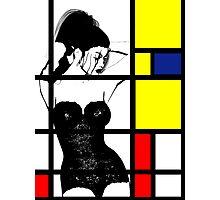 Mondrians Web Photographic Print