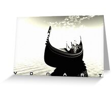 Gondol-White Greeting Card