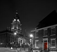 No 1 Park Place, Leeds and Leeds Town Hall by John Hall
