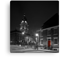 No 1 Park Place, Leeds and Leeds Town Hall Canvas Print