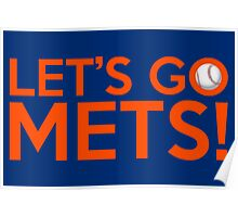 Let's Go Mets! Poster