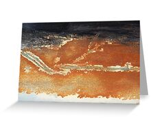 Bands of rusty paint Greeting Card