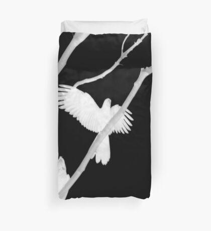 Birds in Black and White Duvet Cover