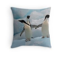 Penguins on an Iceberg Throw Pillow