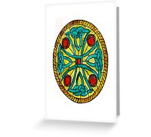 Celtic Knot in glass paint Greeting Card