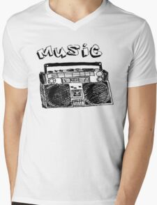 Dgz Music Mens V-Neck T-Shirt
