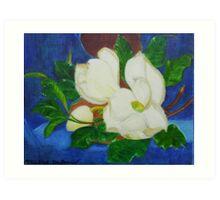 Magnolia tree flowers Art Print