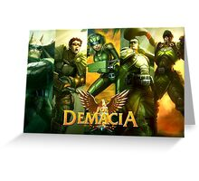 ¡For Demacia! Greeting Card