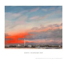 "Inauguration Poster: ""Dawn – 20 January 2009"" by William Van Doren"