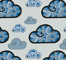 Cloudy pattern by Xinnie