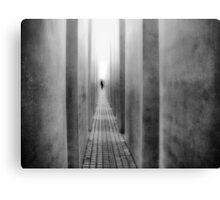 A Walk Through the Memorial Canvas Print