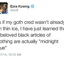 Ezra's Goth Cred by Amber  Hall