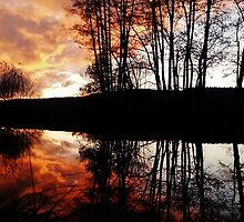 Sunset over french river by Shatterproof88