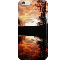 Sunset over french river iPhone Case/Skin