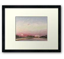 Sunset, Inauguration Day 2009, Washington, D.C. Framed Print