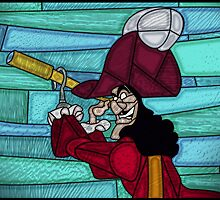 Captain Hook - stained glass villains by UncleFrogface