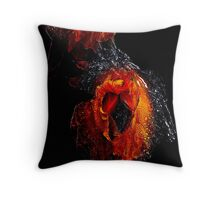 Iris period dress/banrai poodle profile-Shot through the heart   Throw Pillow