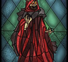 King of the undead - Stained Glass Villains by UncleFrogface