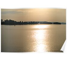 sunset at the lake of constance Poster