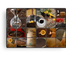 coffee impressions Canvas Print