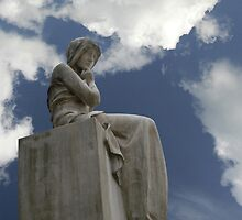 angel thinking over life by Manfred Bruttel