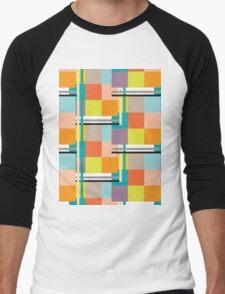 Modern geometric pattern Men's Baseball ¾ T-Shirt