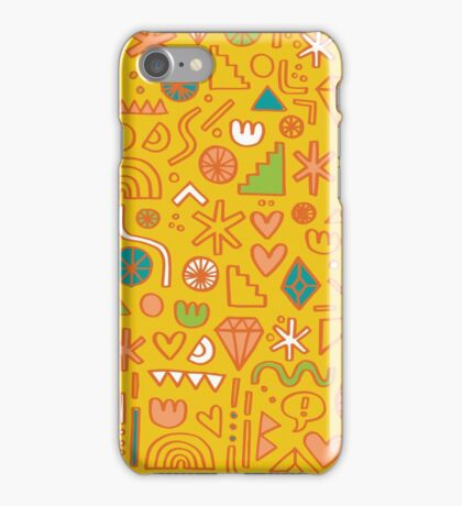 Busy Day Yellow iPhone Case/Skin