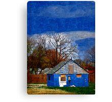 Deserted Blue House Canvas Print