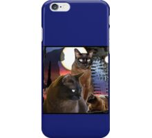 Burmese Cats and the Moon iPhone Case/Skin