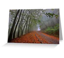 Mystic road on Pangeo mountain Greeting Card